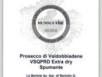 2004 Mundus Vini Argento Valdobbiadene Doc Extra Dry