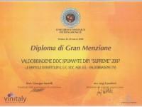 2008 Vinitaly Gran Menzione Valdobbiadene Doc Supreme
