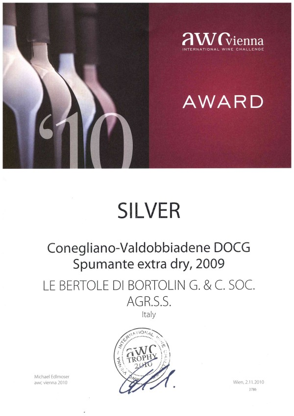 2010 AWC Vienna Argento Valdobbiadene Doc Extra Dry