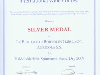 2010 Monde Selection Argento Valdobbiadene Doc Extra Dry