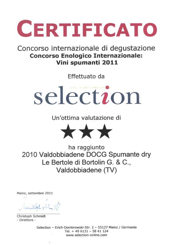 2011 Selection Tre Stelle Valdobbiadene Docg Dry