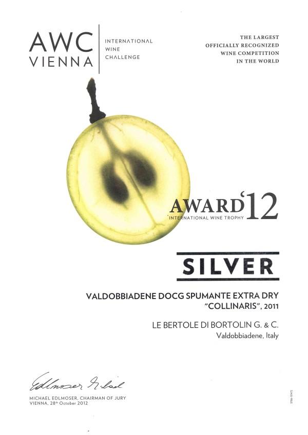 2012 AWC Vienna Argento Valdobbiadene Docg Collinaris