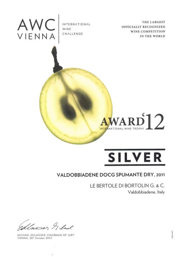2012 AWC Vienna Argento Valdobbiadene Docg Dry