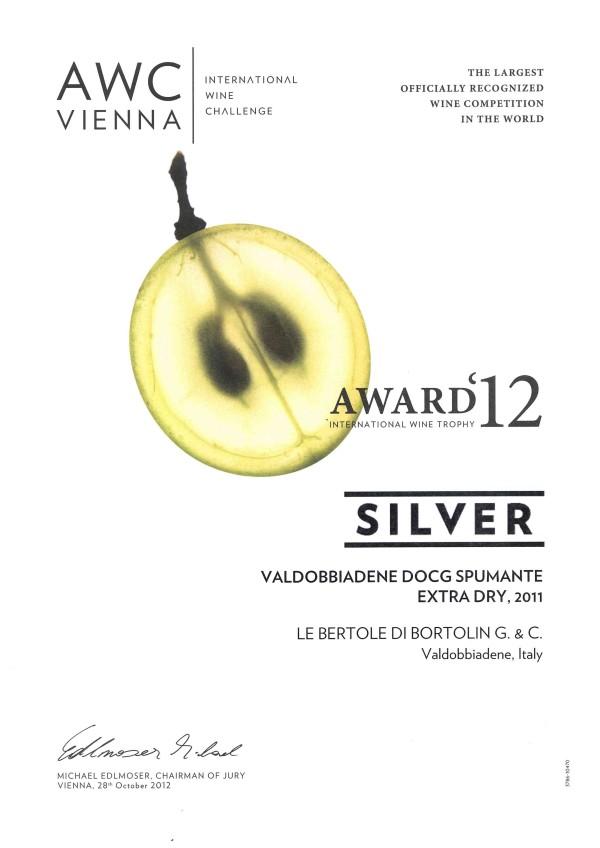 2012 AWC Vienna Argento Valdobbiadene Docg Extra Dry