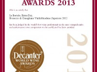 2013 Decanter Bronzo Valdobbiadene Docg Extra Dry