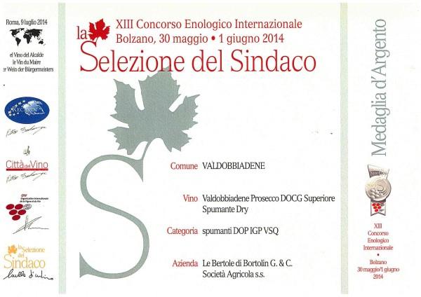 2014 Selezione Del Sindaco Dry Argento