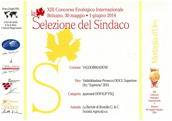 2014 Selezione del SindacoOro Suprème