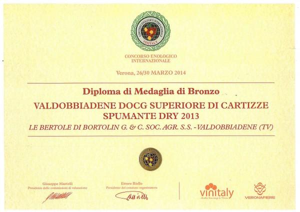 2014 Vinitaly Bronzo Cartizze
