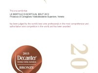 2015 Decanter Bronzo Brut