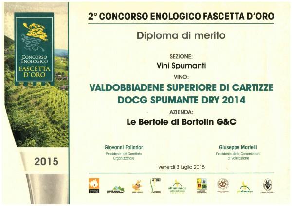 2015 Fascetta Oro Diploma Merito Cartizze