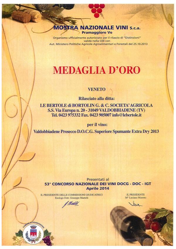 2015 Mostra Nazionale Vini Pramaggiore Oro Extra Dry