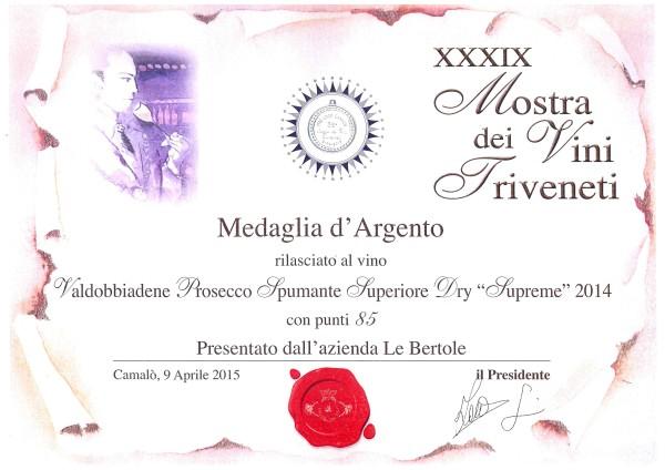 2015 Mostra Vini Triveneti Camalo Argento Supreme