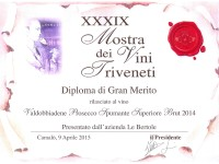 2015 Mostra Vini Triveneti Camalo Merito Brut