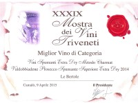 2015 Mostra Vini Triveneti Camalo Miglior Vino Categoria Extra Dry