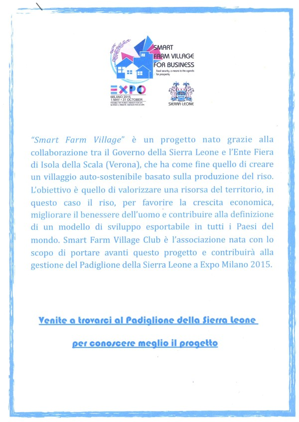 Expo 2015 Progetto Smart Farm Village