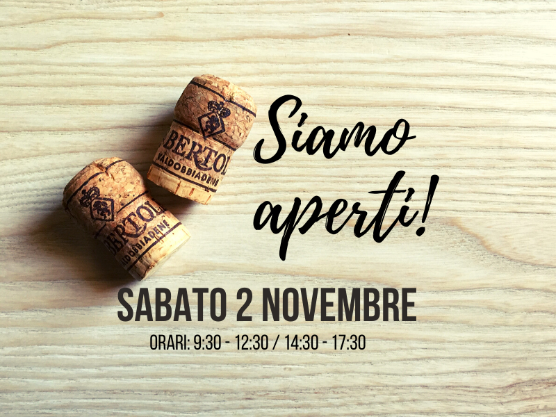 On the 2nd of November: We Are Open!